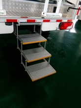 ES-F-T-M Series vehicle ladder Aluminum Folding bus Manual Step for Van and Motorhomes