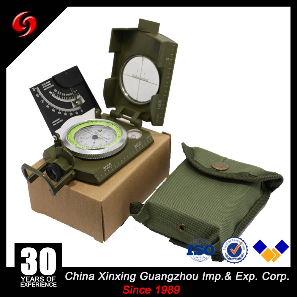 US Military Lensatic Sighting Compass with Gradienter Professional Explorer Military Sighting Compass