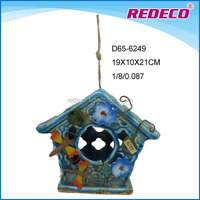 Ceramic hanging bird breeding cage for wholesale