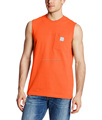 Men's Workwear Pocket Sleeveless T shirt Mid weight cotton T-Shirt Crewneck T-Shirt blank Tee