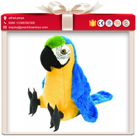 Blue bird voice recorder repeat toy parrot that talks