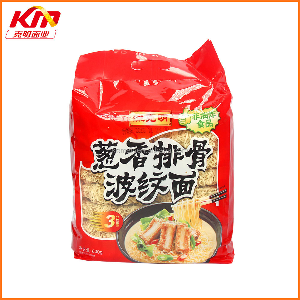 whole sale instant dried noodle in onion pork rib flavor noodles 800g