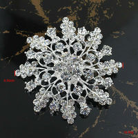 Alloy Crystal Magnetic Brooch For Invitation