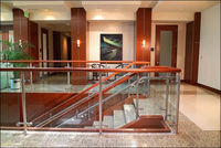 Best Selling Privacy glass balcony screens with stainless steel glass baluster
