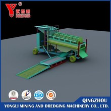 Mobile small scale gold machine, gold trommel washing plant
