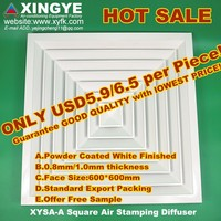 ceiling louvers hvac diffuser XYSA-A600 aluminum square air outlet cheap and good quality 24inch