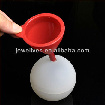 2013 silicone ice ball mold,silicone funnel for ice ball
