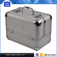 Good Reputation factory supply aluminum make up cosmetic case train beauty case