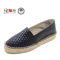Black fashion espadrilles ladies high heel shoes
