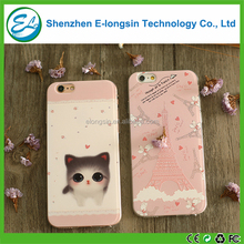 Elongsin Factory Wholesales Phone Cover Color Printing Soft Cell Phone Case For iPhone 7