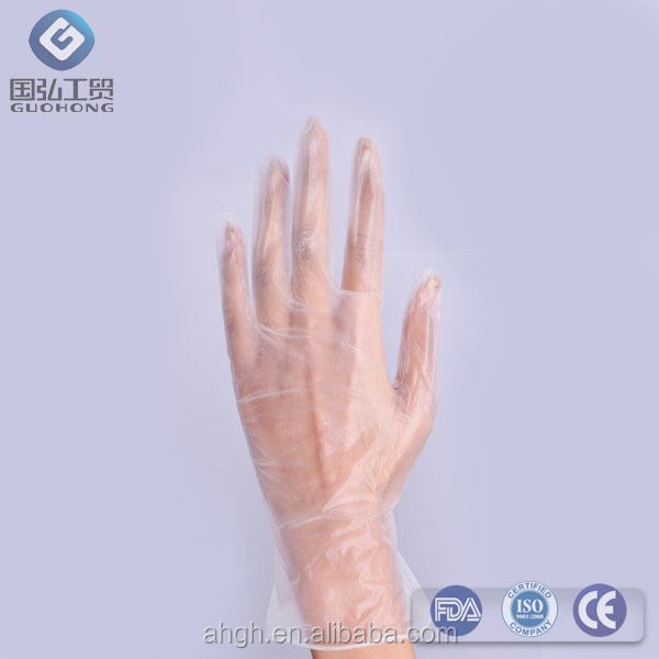 <strong>100</strong> x Plastic Disposable GLOVES PREMIUM POLYTHENE Catering Hairdressers Butchers glove