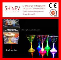 Wholesale Drinking Flashing Led Martini Glass