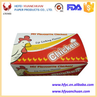 Custom printed foldable fried chicken container