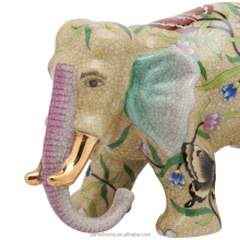Colourful painting ceramic animal decoration elephant sculpture for home decorative