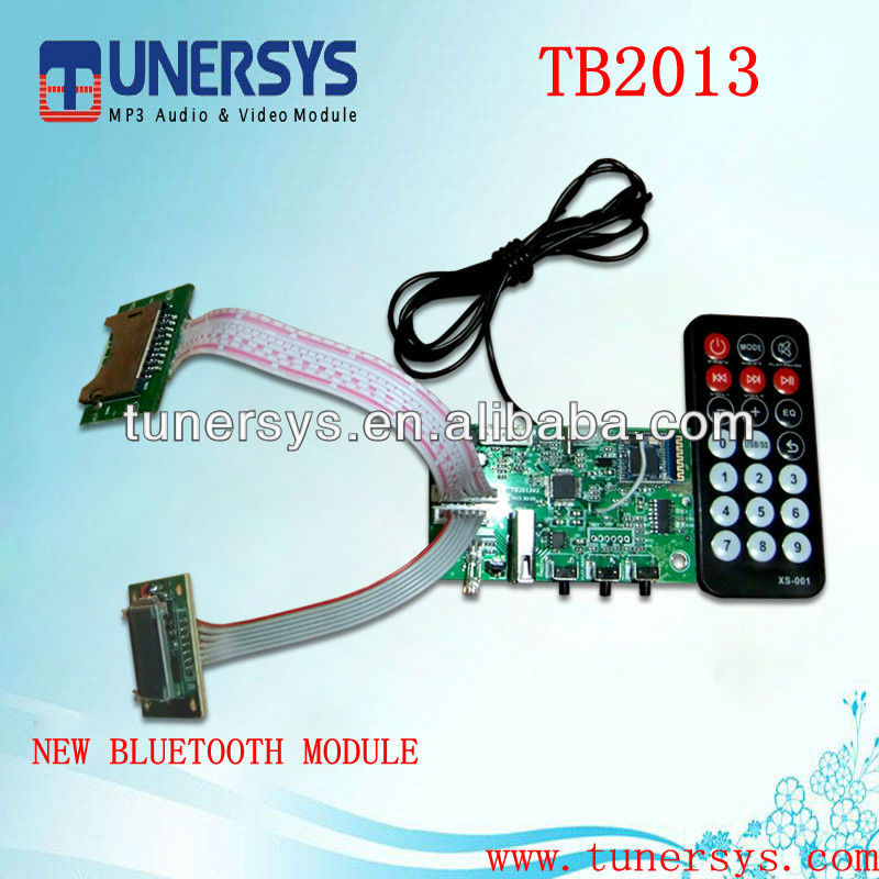 bluetooth video camera mp3 module TB2013 from Tunersys