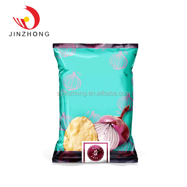 Custom Low Price High-End Back Sealed Food Snack Packaging Bag