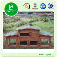 Factory export directly cheap custom wooden rabbit hutch(18 years factory experience)