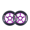 High Rebound Kick Scooter Wheels Colorful 100mm Pro Wheels