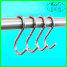wholesale Bulk metal small S shape curtain hooks for hanging