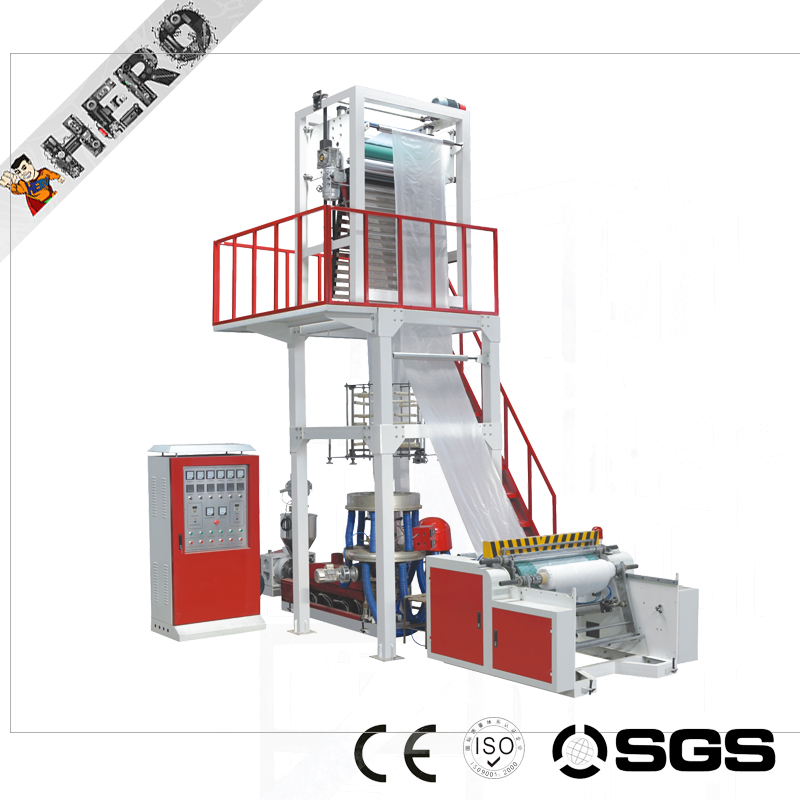 SJ-G55 HDPE/LDPE film blowing machine pp pe film recycling pelletizing extruder machine