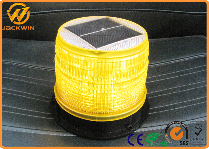 Bright Red&Yellow Rotating Solar LED Warning Beacon Lights For Cars SU1800