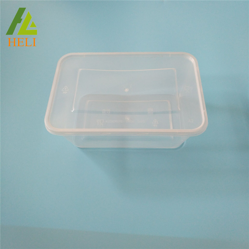 1000ml Injection Disposable PP Clear Lunch Tray