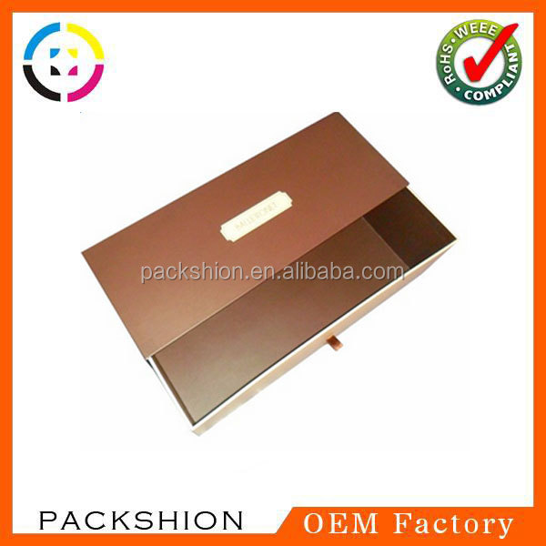 Newly Branded Large Size Match Box/Drawer Box/Slide Box Packaging with Ribbon at One End