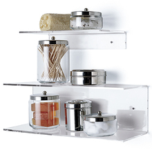 Luxury Kitchen Racks Clear Acrylic Storage Shelf Bedroom Wall Mounted Book Display Shelf