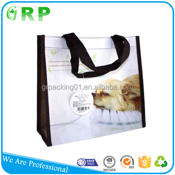 BSCI ISO Economic reusable pp non woven shopping folding tote bag