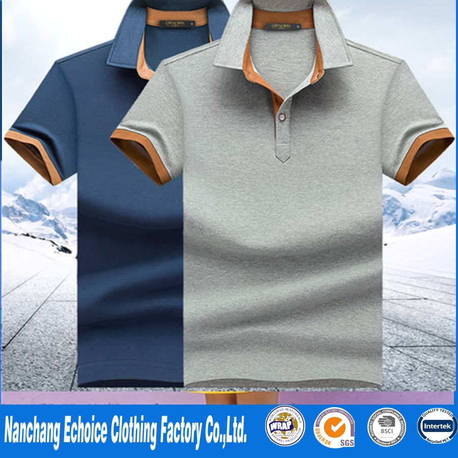 2017 new design plain polo for man in summer from Nanchang OEM factory online shopping