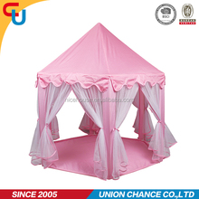 big size pink princess kid play tent for household