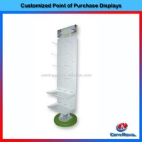 New product 2016 floor standing acrylic kids and baby clothes display stand