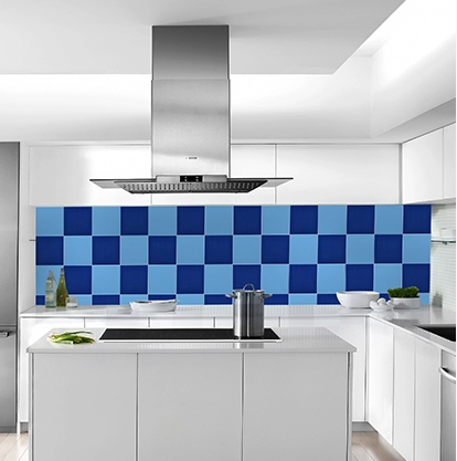 solid color ocean blue wall tile accessories