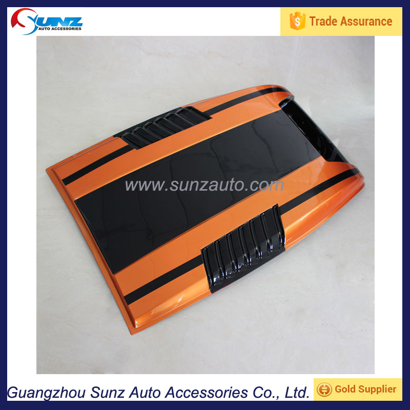 Hood Scoop Cover For Ford Ranger 2015 Exterior Accessories Auto Black-Orange Bonnet Hood
