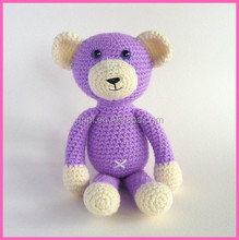 High quality soft baby toy stuffed knitted teddy bear crochet teddy bear