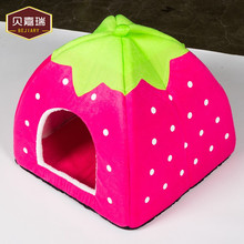 Pet Products Strawberry Pet Bed Furnitures House Wholesale