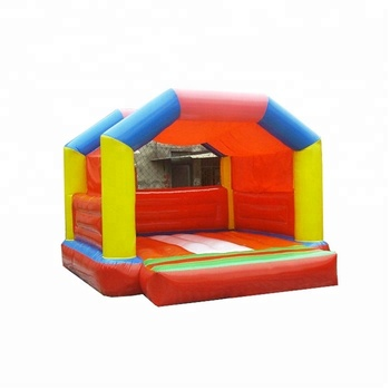Outdoor attractive custom 0.55mm PVC children inflatable jump house