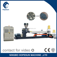 double stage pp pe ps abs extruder machine plastic recycling