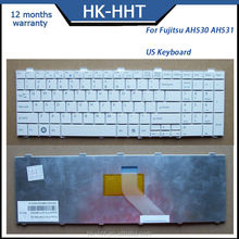 White laptop US keyboard for Fujitsu AH530 AH531 NH751 Notebook