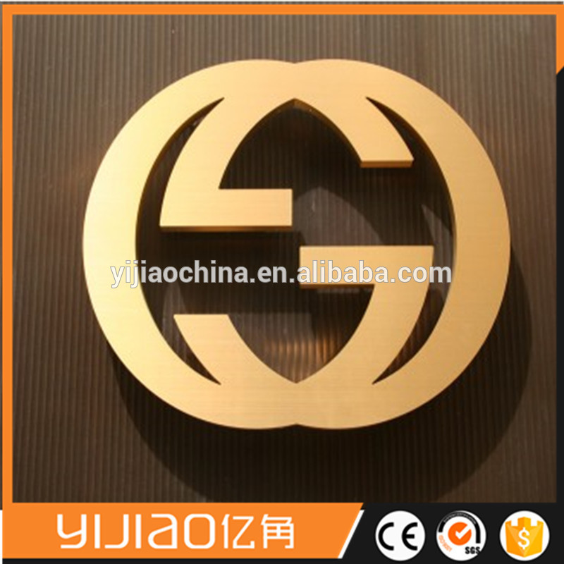 Stainless Steel Alphabet Logo Decorative Wall Mount Sign Metal Channel Letter