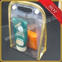Clear PVC cosmetic bag packaging for personal skincare