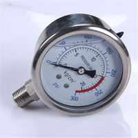 Durable Lightweight Easy To Read Clear bourdon tube 50mm oil pressure gauge