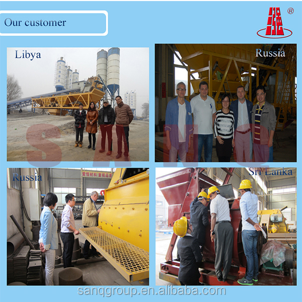 Belt Conveyor 120m3/h HZS120 Concrete Batching Plant