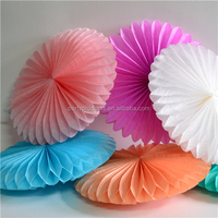 Tissue Paper Fan For Wedding Party Wall Hanging Decoration