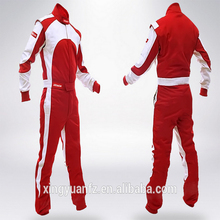 Protective car racing suit in fire resistant motorcycle uniform clothing