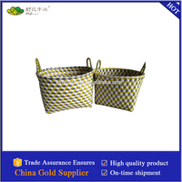 woven stereoscopic laundry storage basket of pp band S/2