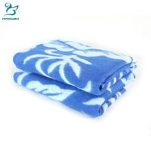 2018 Top sale jacquard thread blanket,factory thread blanket,recycle yarn cotton blanket