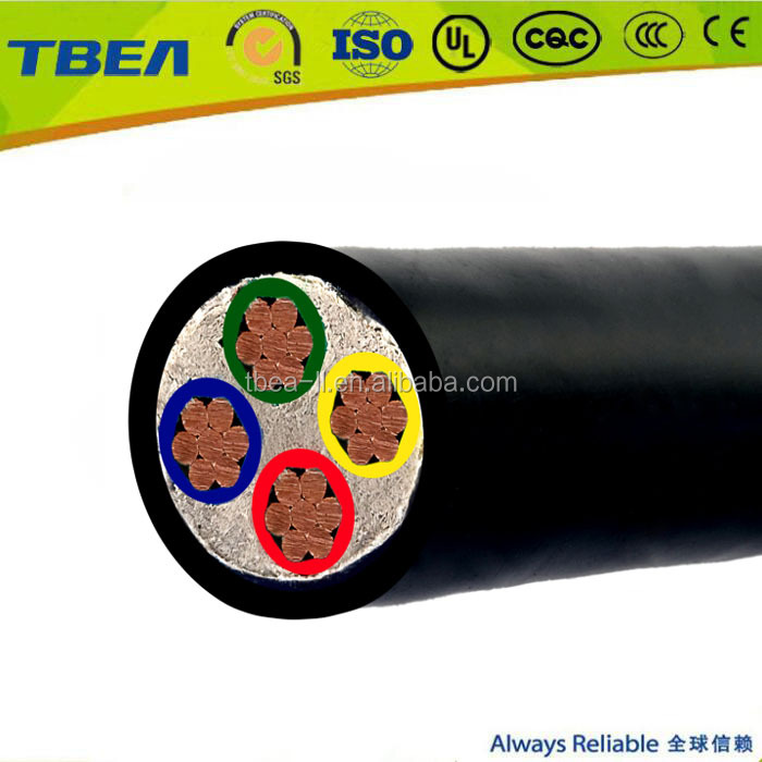 low voltage 4 core 10mm2 copper cable