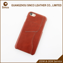 2017 good quality genuine leather smart phone case