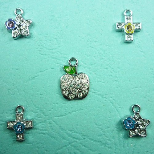 DIY Rhinestone Cross Pendant Necklace Pendants
